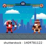 retro videogame  screen arcade... | Shutterstock .eps vector #1409781122