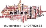 welfare word cloud concept.... | Shutterstock .eps vector #1409782685