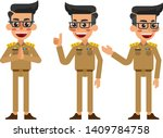 thai male in uniform  thai male ... | Shutterstock .eps vector #1409784758