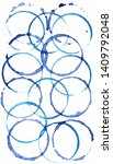 blue intersecting circles on...   Shutterstock . vector #1409792048