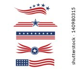 Usa Star Flag Design Elements...