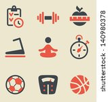 vector illustration of fitness... | Shutterstock .eps vector #140980378