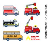 Colorful Cartoon Fire Truck ...
