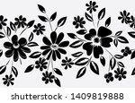 abstract horizontal flower... | Shutterstock . vector #1409819888