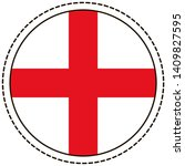 england flag sticker on white... | Shutterstock .eps vector #1409827595