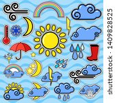 weather stickers  forecast... | Shutterstock .eps vector #1409828525