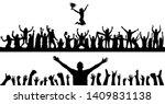 heering people with champion... | Shutterstock .eps vector #1409831138