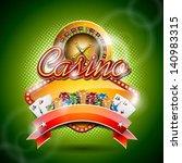 vector illustration on a casino ... | Shutterstock .eps vector #140983315