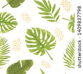 seamless pattern with different ... | Shutterstock .eps vector #1409837798