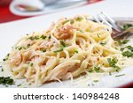 Spaghetti Carbonara On Bowl...