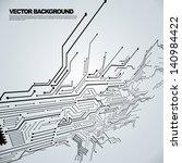 circuit board background texture | Shutterstock .eps vector #140984422