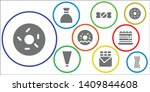 confectionery icon set. 9... | Shutterstock .eps vector #1409844608