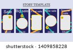 set of five abstract vector... | Shutterstock .eps vector #1409858228