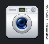 washing machine. laundry icon.... | Shutterstock .eps vector #140986732