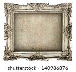 antique silver frame with empty ... | Shutterstock . vector #140986876