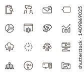 team structure line icon set.... | Shutterstock .eps vector #1409869025