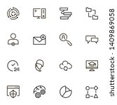 team structure line icon set.... | Shutterstock .eps vector #1409869058