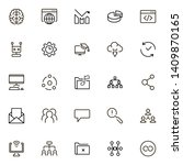 team structure line icon set.... | Shutterstock .eps vector #1409870165