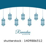 a beautiful greeting card of... | Shutterstock .eps vector #1409886512