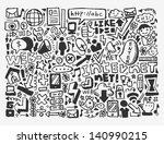 doodle network element   Shutterstock .eps vector #140990215