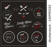 restaurant design set | Shutterstock .eps vector #140990332