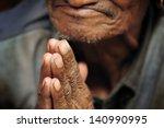 buddhist hands 7 | Shutterstock . vector #140990995