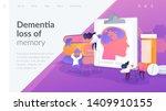 memory loss  brain illness... | Shutterstock .eps vector #1409910155