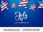 July 4th Banner. Usa...