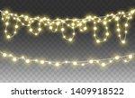 christmas lights isolated on... | Shutterstock .eps vector #1409918522