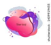 modern abstract banner. flat... | Shutterstock .eps vector #1409919455
