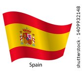 flag of the country spain with... | Shutterstock . vector #1409932148