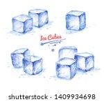 watercolor hand drawn... | Shutterstock . vector #1409934698