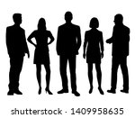 set of vector silhouettes of ... | Shutterstock .eps vector #1409958635