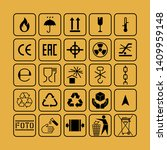 packaging flat vector symbols.... | Shutterstock .eps vector #1409959148
