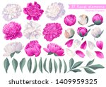 set of floral elements with... | Shutterstock .eps vector #1409959325