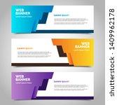 set of three abstract vector... | Shutterstock .eps vector #1409962178