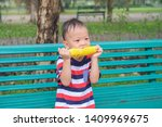 smiling cute little asian 2   3 ... | Shutterstock . vector #1409969675