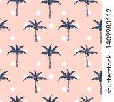 palm trees pink polka dot retro ...   Shutterstock .eps vector #1409983112
