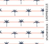 palm trees blue and pink...   Shutterstock .eps vector #1409983115