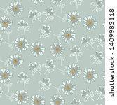 simple soft blue daisy florals...   Shutterstock .eps vector #1409983118