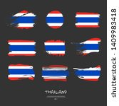 big pack of thailand flag with...   Shutterstock .eps vector #1409983418