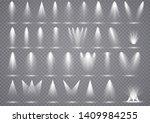 big set spotlights lighting ...   Shutterstock . vector #1409984255