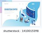isometric expo stands.... | Shutterstock .eps vector #1410015398