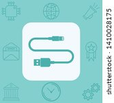 usb cable vector icon sign... | Shutterstock .eps vector #1410028175