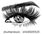 illustration with woman's eye ... | Shutterstock .eps vector #1410035525