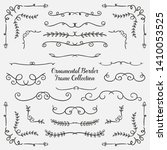 set of floral hand drawn border | Shutterstock .eps vector #1410053525