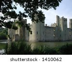 bodium castle viewed through...