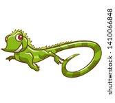 Iguana Vector Cartoon Graphic...
