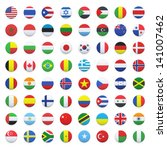 collection of flag button... | Shutterstock .eps vector #141007462