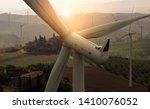 wind turbine farm power... | Shutterstock . vector #1410076052